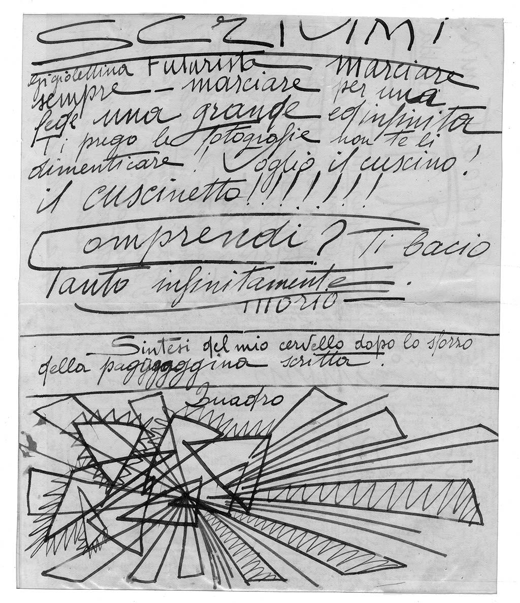Gigioletta mia! Biedda!, pag.2, penna su carta, 1924, collezione privata