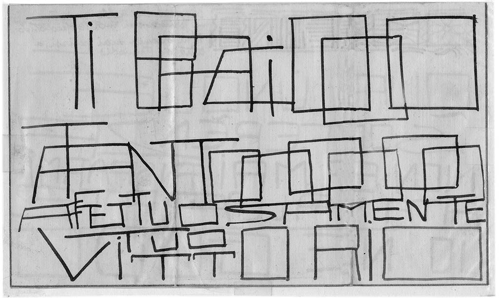 Qualunque sofferenza, pag.2, penna su carta, 1924, collezione privata