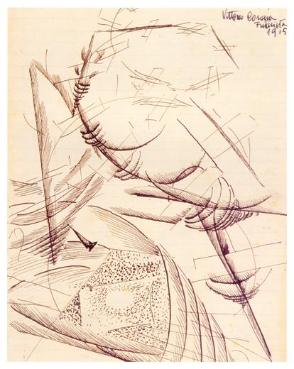 Dinamismo aereo, inchiostro su carta, 1929-30, collezione privata