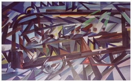 Il tranvetto, olio su tela, 105x158, 1963, collezione privata