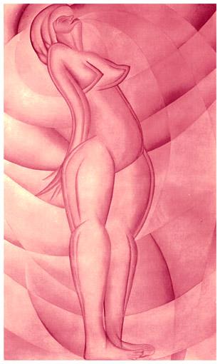 Isterismo, olio su tela, 208x126, versione anni 50, collezione privata