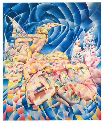 La caduta delle stelle, olio su tela, 252x210, versione anni 50, collezione privata