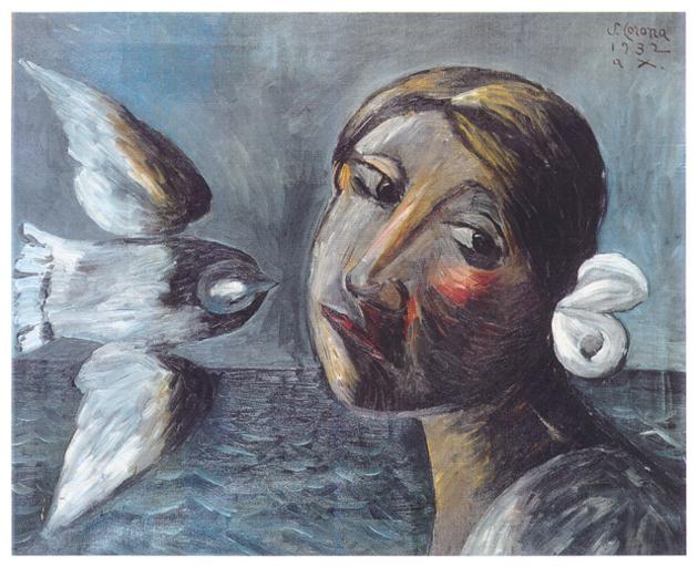 La pace cerca gli occhi d Europa, olio su tela, cm 65x80, 1932, collezione privata