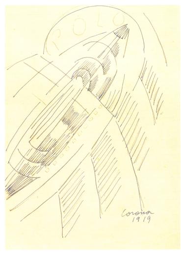 Polo, matita e penna su carta, post 1926, collezione privata