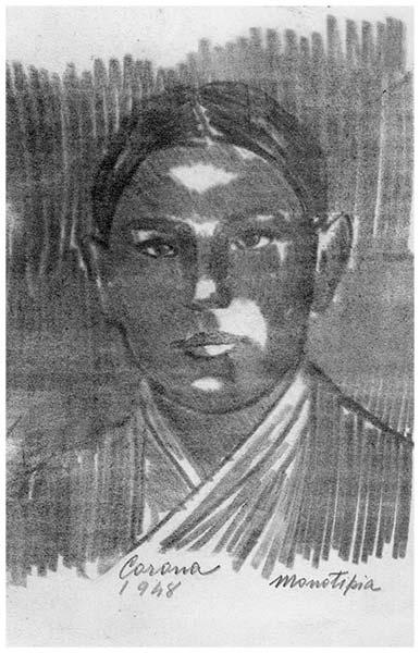 Ragazzo, monotipo su carta, 1948, collezione privata