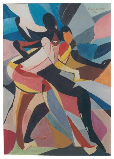 Ritmo, olio su tela, 70x50, 1964, collezione privata