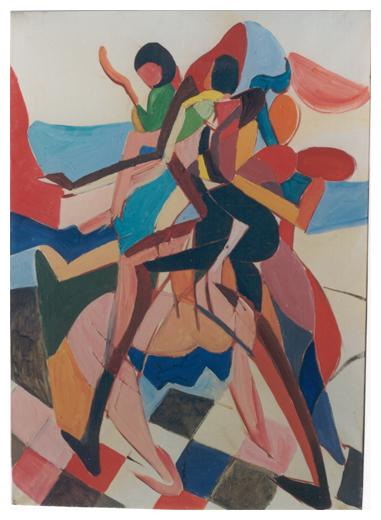 Ritmo, olio su tela, cm 70x50, s.d., collezione privata