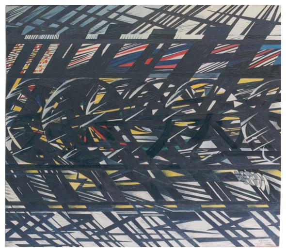 Scambio, olio su tela, 108,5x124, s.d., collezione privata