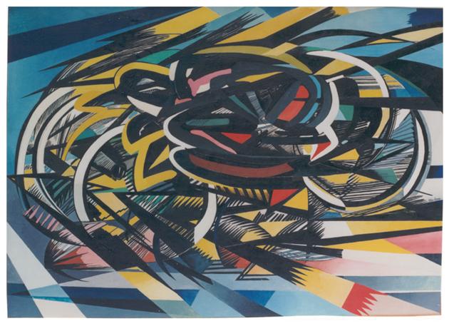 Velocità, olio su tela, cm 100,5x140,5, s.d., collezione privata