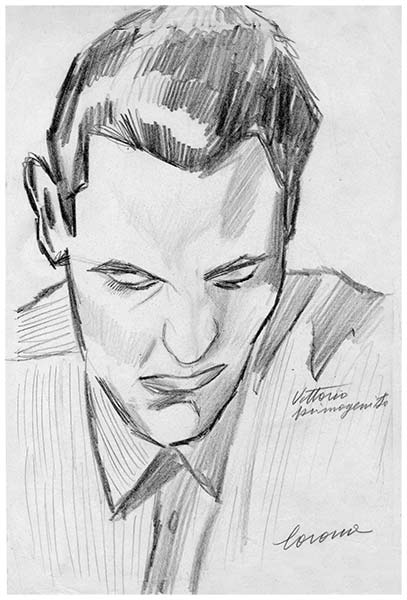 Vittorio primogenito, 1, matita su carta, 1949-1950, collezione privata