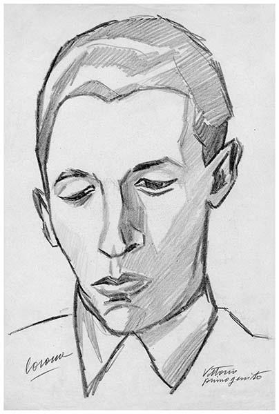 Vittorio primogenito, 2, matita su carta, 1949-1950, collezione privata