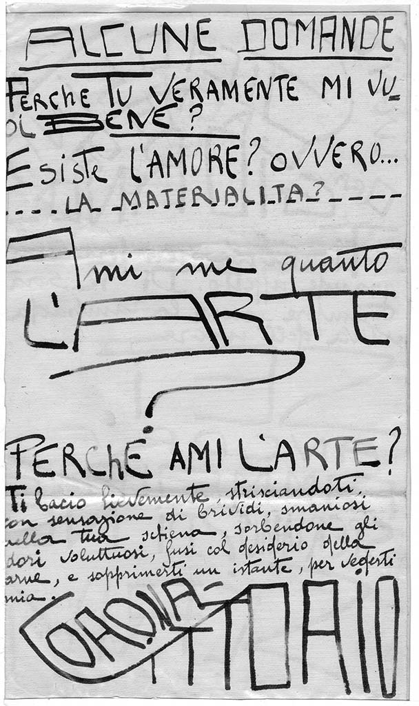 Gigiolina ora calma del giorno, pag.2, penna su carta, 1924, collezione privata