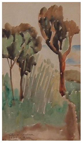 Alberi, acquerello, 1935, collezione privata