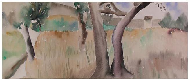 Alberi, acquerello, 1931, collezione privata