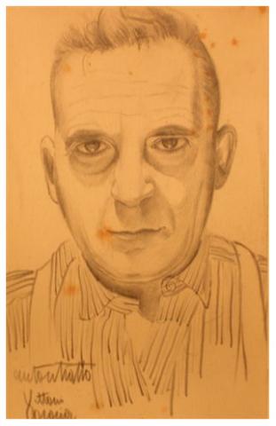 Autoritratto, matita su carta, 1948, collezione privata