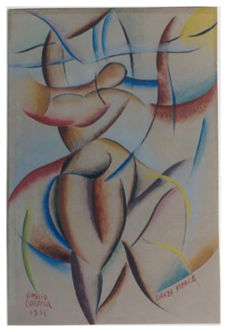 Danza vivace, tempera, 1956, collezione privata