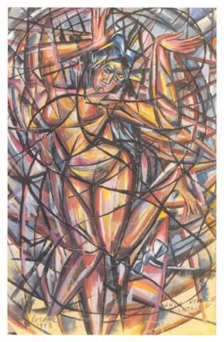 Danza vivace orientale, tempera, 1918, collezione privata