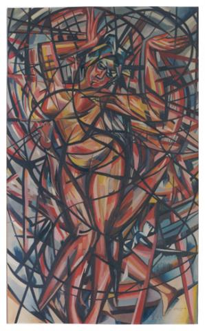 Danza vivace orientale, olio su tela, 166x100, 1963, collezione privata