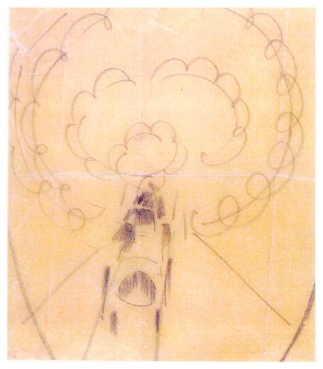 Disegno per cuscino 1, 1926-27, collezione privata