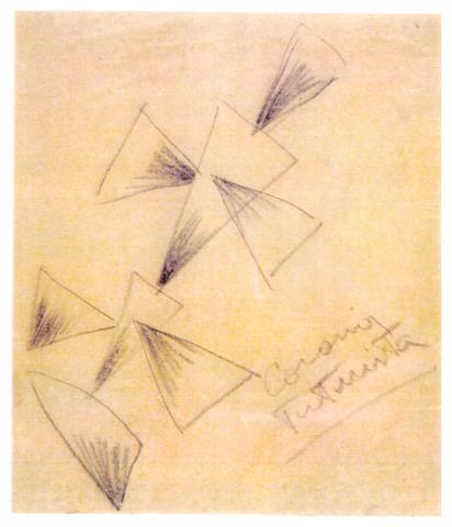 Disegno per cuscino 2, 1926-27, collezione privata