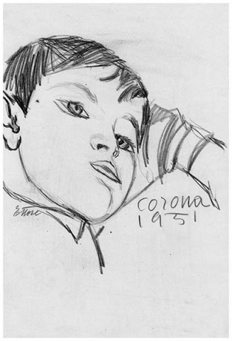 Ettore, matita su carta, 1951, collezione privata