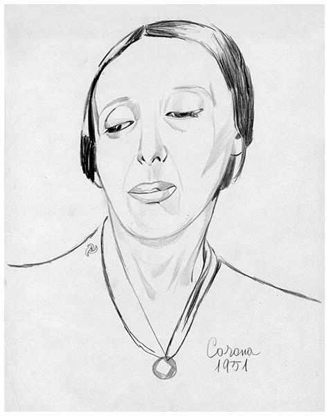 Gigia, matita su carta, 1951, collezione privata