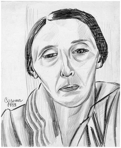 Gigia, ritratto, matita su carta, 1952, collezione privata