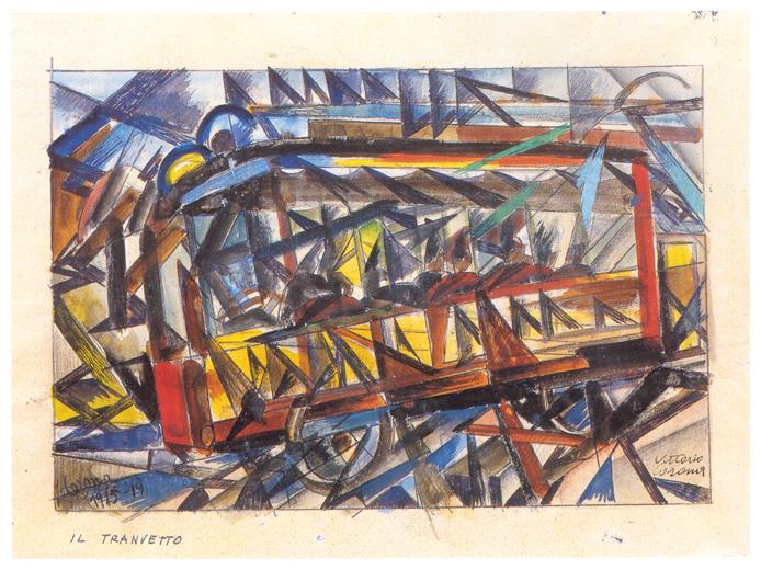 Il tranvetto, tempera, 1915-19, collezione privata
