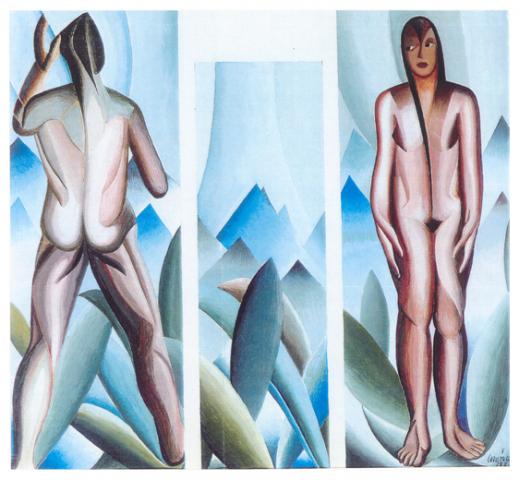 L antidiluviano, tempera, bozzetto 1928, collezione privata
