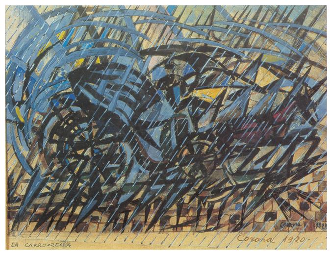 La carrozzella, tempera, 1920, collezione privata
