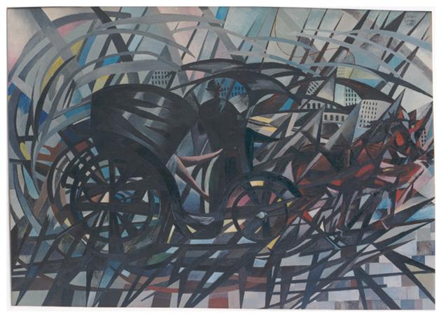 La carrozzella, olio su tela, cm 102x144, s.d., collezione privata