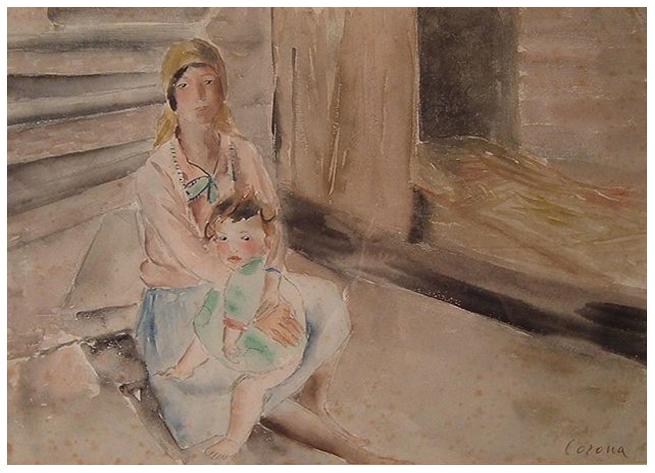 La zingara, acquerello, 1935, collezione privata