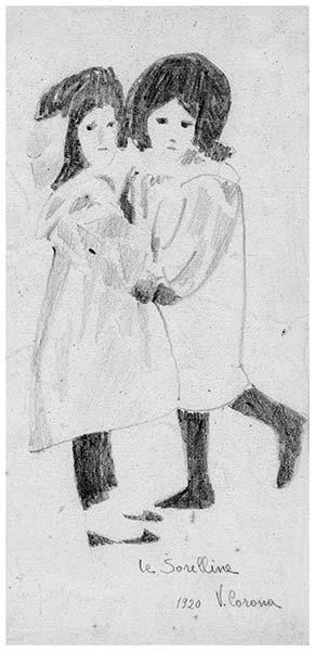 Le sorelline, 1920, collezione privata