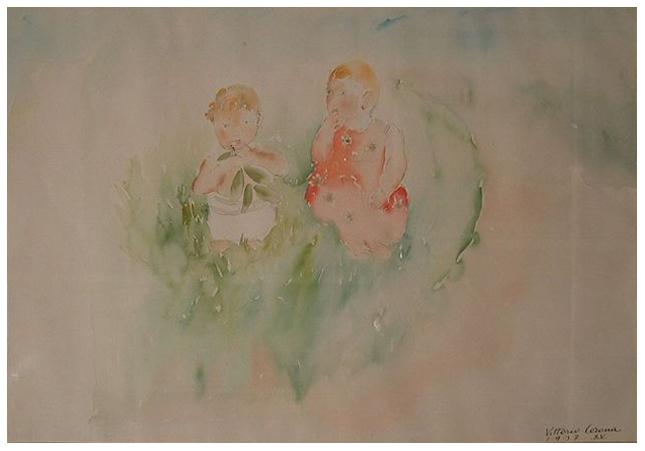 Natura viva, acquerello, 1937, collezione privata