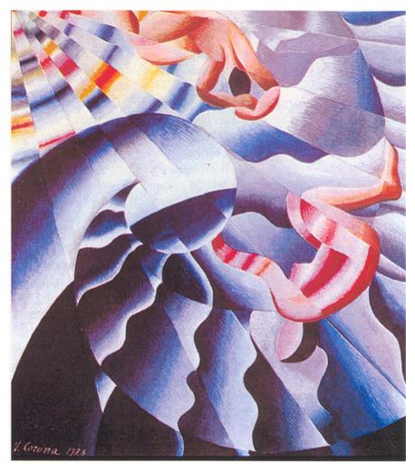 Onda marina, tempera, 1926, collezione privata