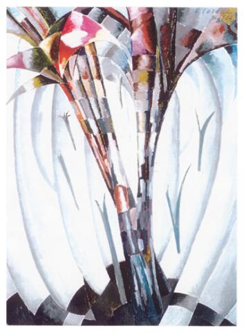 Palme e vegetazione, tempera, 1924, collezione privata