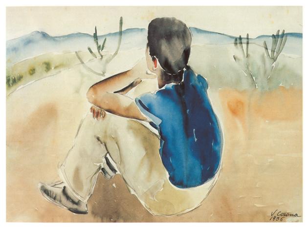 Ragazzo, acquerello, 1936, collezione privata