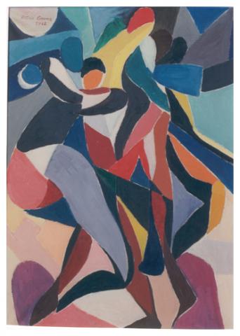 Ritmo, olio su tela, 70x50, 1962, collezione privata