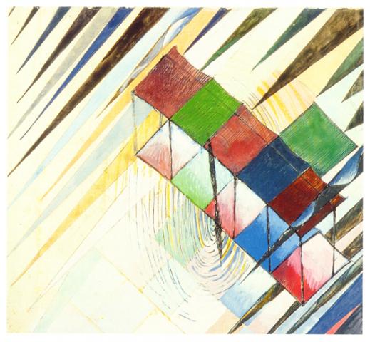 Studio per monoplano, tempera, 1919, collezione privata