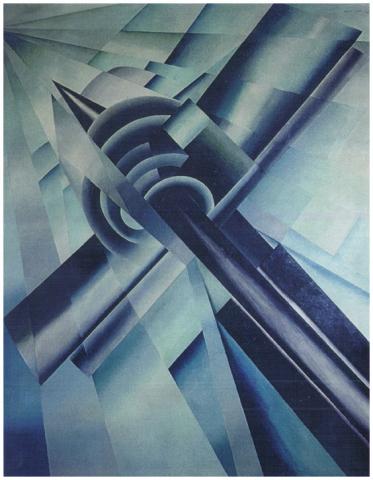 Supermarino, olio su tela, 250x204, versione anni 50, collezione privata