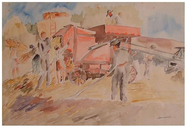 Trebbia, acquerello, 1936, collezione privata